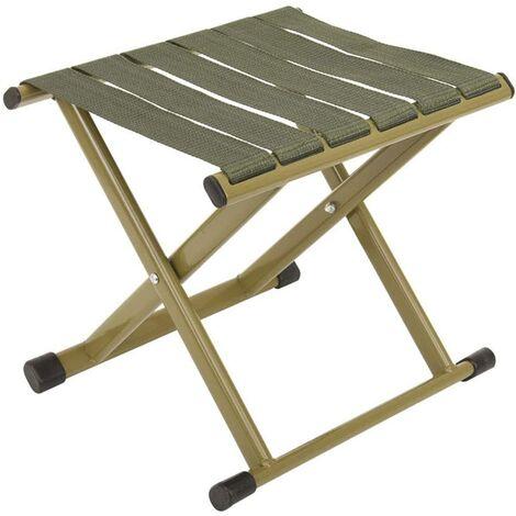 Folding chair Chaise Pliante Portable extérieure Tabouret Pliant épaississement Mazha Tabouret de pêche Pliant Simple Petit Banc Vert (petit)