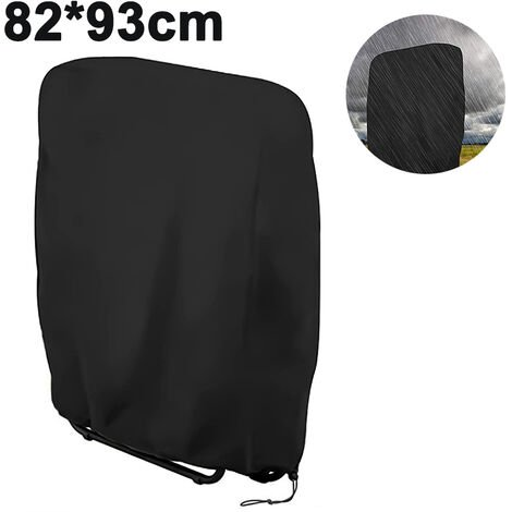 Folding chair cover protective cover, lounger hood 190D Oxford Foldable deck chair cover waterproof, windproof, UV-resistant, for garden lounger sun lounger relax loungers, black