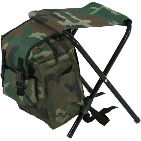 Folding Chair Folding Stool Waterproof Backpack Ultralight Portable Folding Chair for Fishing, Sport, Hiking, Beach Outdoor Barbecue, Camping