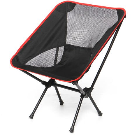 Folding Chair Large For Outdoor Camping Barbecue Picnic Black Fishing