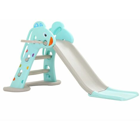 Folding Childrens Slides Tolddler Kids Climbing Frame Outdoor Indoor Garden Play Blue