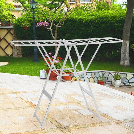Folding Clothes Airer, Laundry Drying Rack, Multifunctional Air Dryer,160 x 119 x 54 cm