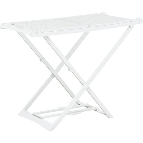 Folding Clothes Dry Rack White Plastic