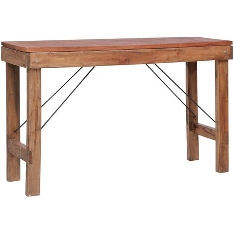 Folding Console Table 130x40x80 cm Sold Reclaimed Wood - Brown