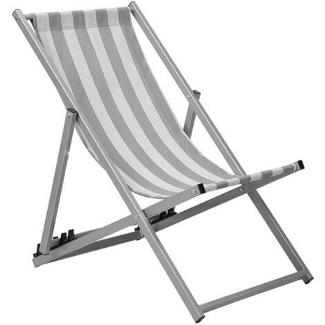 Folding Deck Chair Grey LOCRI