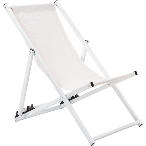 Folding Deck Chair White LOCRI