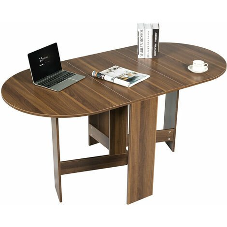 """main image of """"Folding Dining Coffee Table 3-in-1 Drop Leaf Table Writing Desk 4 to 6 People"""""""