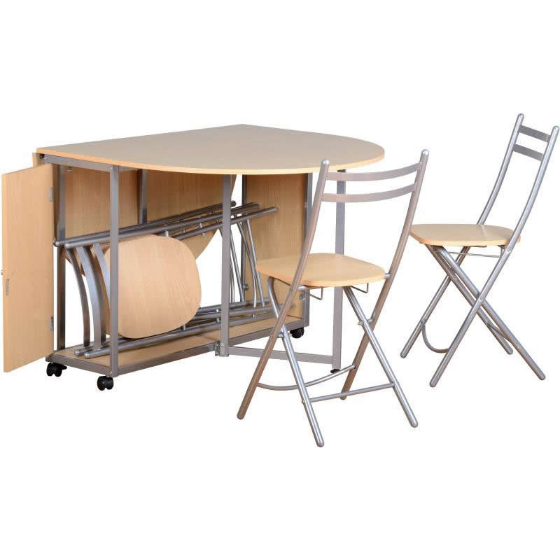 Folding Dining Table Set With 4 Charis 51323