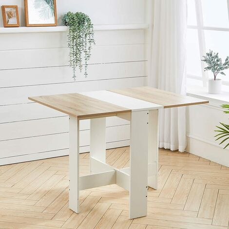 """main image of """"Folding Dining Table Wooden Drop-Leaf Desk Compact Kitchen Living Room Furniture"""""""