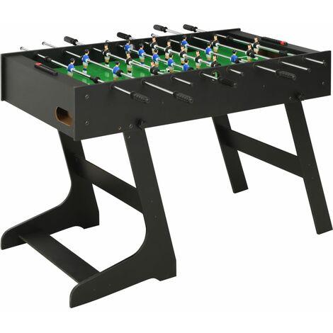 Folding Football Table 121x61x80 cm Black