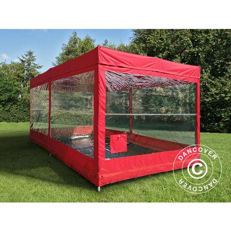 Folding garage FleX Carcover, 3x6 m, Red