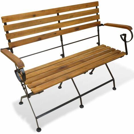 Folding Garden Bench 112 cm Solid Acacia Wood