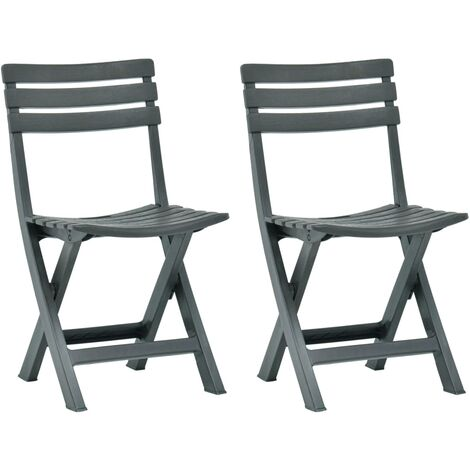 "main image of ""Folding Garden Chair 2 pcs Plastic Green"""