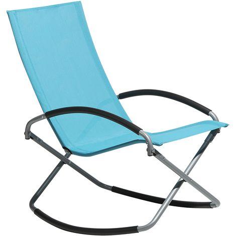 Folding Garden Chair Blue CASTO