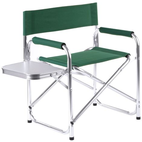 Folding Garden Chair W/Shelf,Aluminium Frame,100% Polyester W/Polyurethane Covering