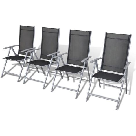 Folding Garden Chairs 4 pcs Aluminium