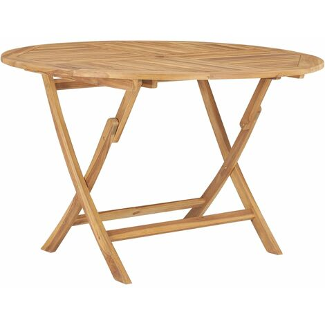 Folding Garden Table ? 120 cm Solid Teak Wood - Brown