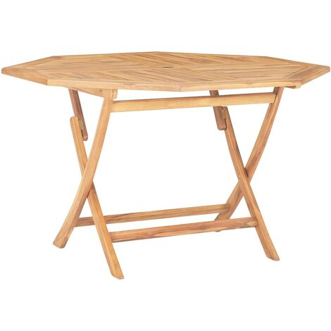 Folding Garden Table 120x120x75 cm Solid Teak Wood
