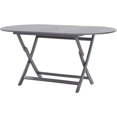 Folding Garden Table 160x85x75 cm Solid Acacia Wood