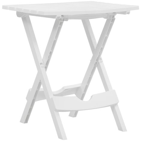 Folding Garden Table 45.5x38.5x50 cm White