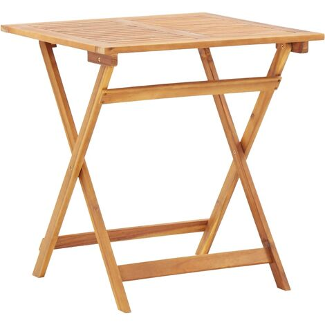 Folding Garden Table 70x70x75 cm Solid Acacia Wood