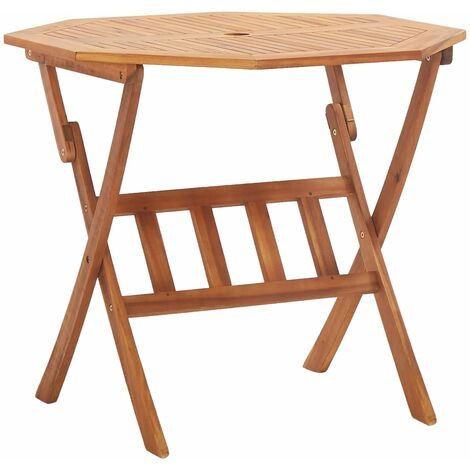 Folding Garden Table 90x75 cm Solid Acacia Wood