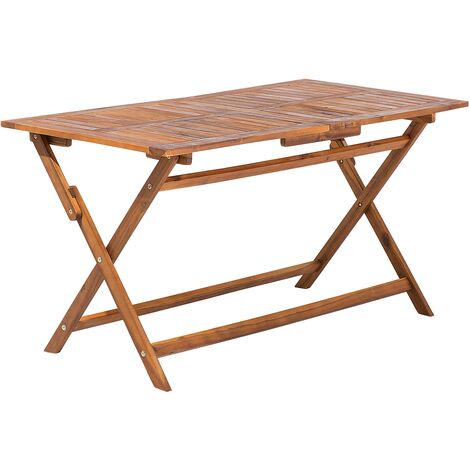 Folding Garden Table Acacia Wood 140 x 75 cm CENTO