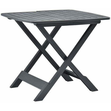 Folding Garden Table Anthracite 79x72x70 cm Plastic