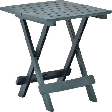 Folding Garden Table Green 45x43x50 cm Plastic