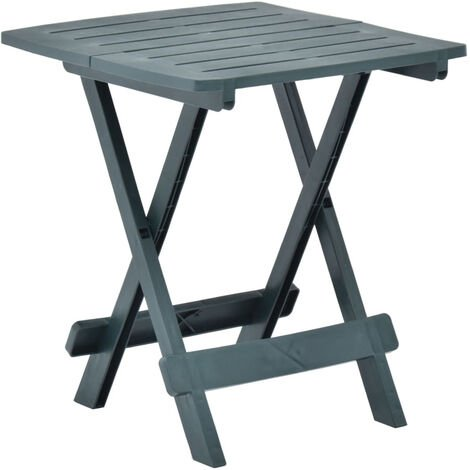 Folding Garden Table Green 45x43x50 cm Plastic