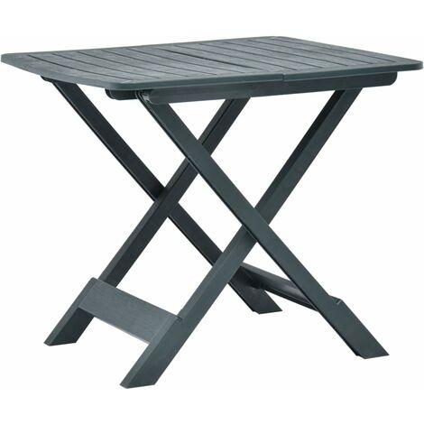 Folding Garden Table Green 79x72x70 cm Plastic