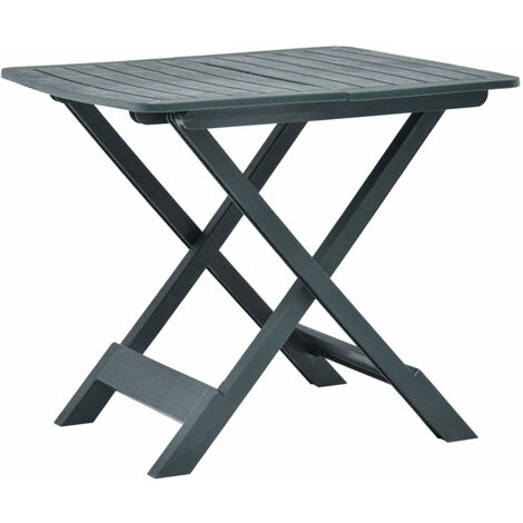 Folding Garden Table Green 79x72x70 cm Plastic
