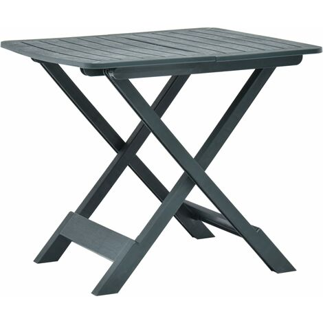 Folding Garden Table Green 79x72x70 cm Plastic - Green