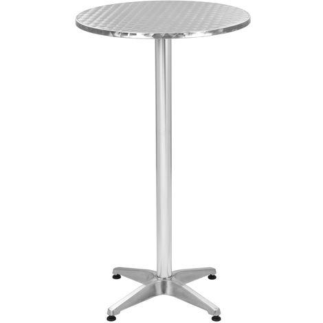 Folding Garden Table Silver Aluminium ? 60 cm