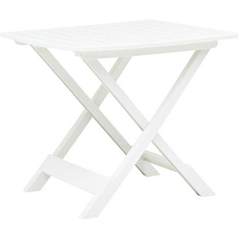 Folding Garden Table White 79x72x70 cm Plastic