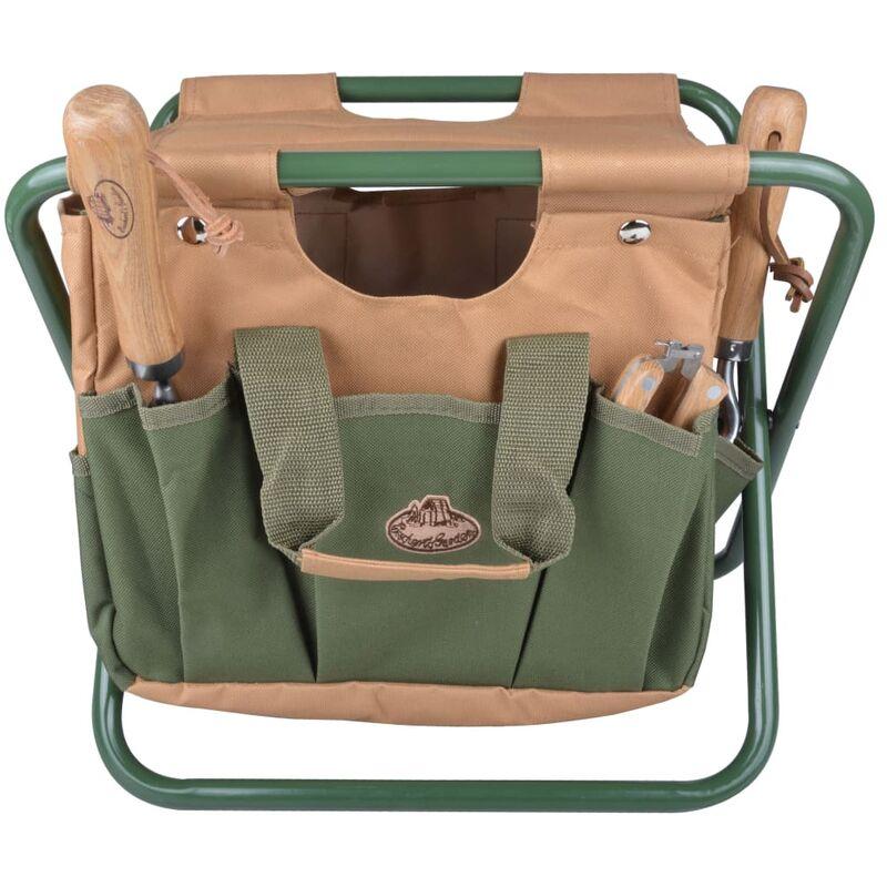 Image of Garden Tool Bag and Stool GT01 - Multicolour - Esschert Design