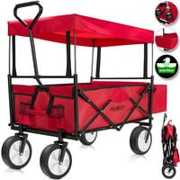 Folding Garden Trolley Cart Removable Roof