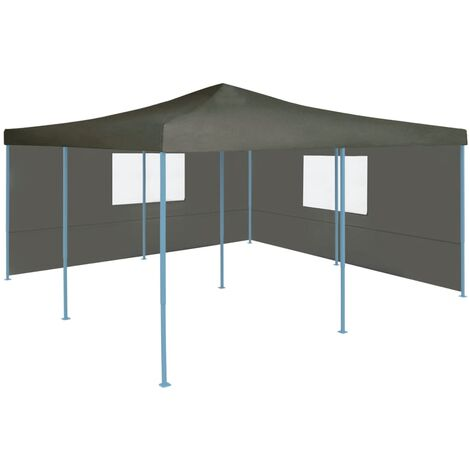 Folding Gazebo with 2 Sidewalls 5x5 m Anthracite