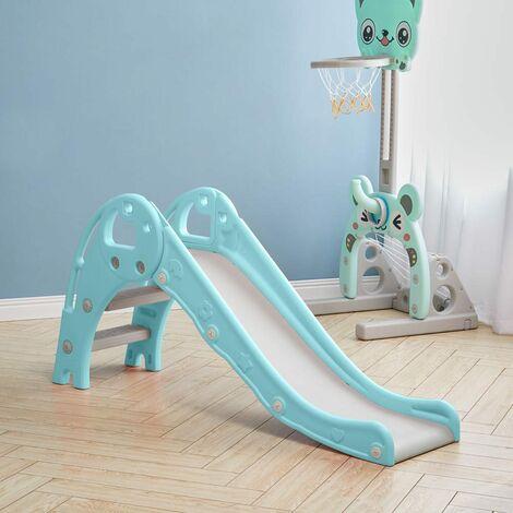 "main image of ""Folding Kids Toddler Climber Slide Set Indoor/Outdoor Playground,Blue"""