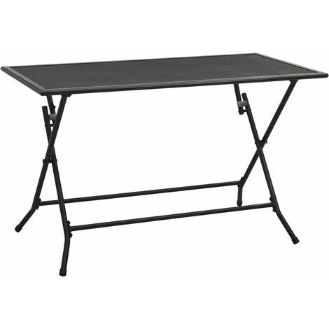 Folding Mesh Table 120x60x72 cm Steel Anthracite