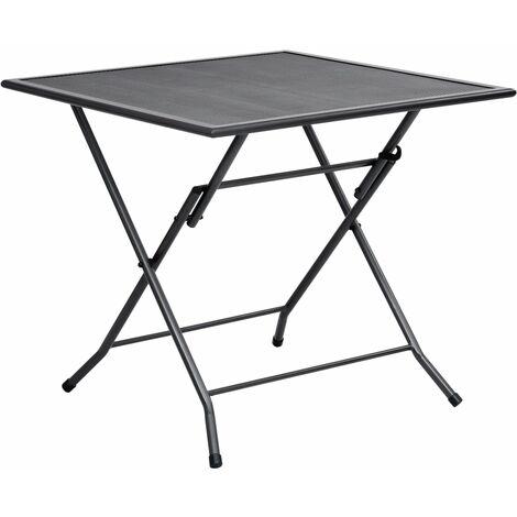 Folding Mesh Table 80x80x72 cm Steel Anthracite