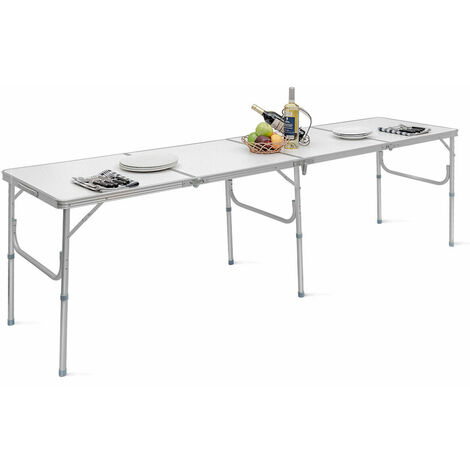 """main image of """"Folding Picnic Table Party Camping Large Table Portable Outdoor Lightweight Desk"""""""