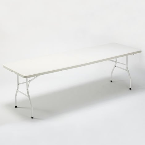 Folding plastic table 242x76 for garden and camping MULHACEN