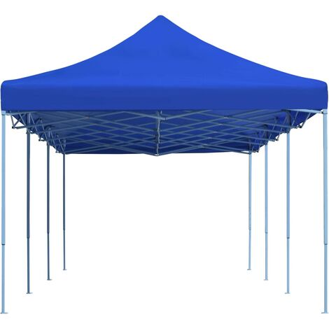 Folding Pop-up Party Tent 3x9 m Blue