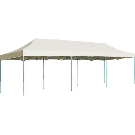 Folding Pop-up Party Tent 3x9 m Cream