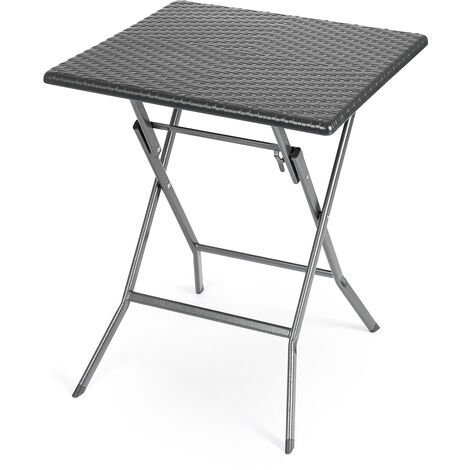 Folding Rattan Effect Bistro Table