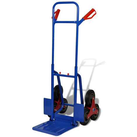 Folding Sack Truck with 6 Wheels Blue