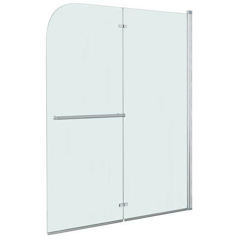 Folding Shower Enclosure 2 Panels ESG 120x140 cm
