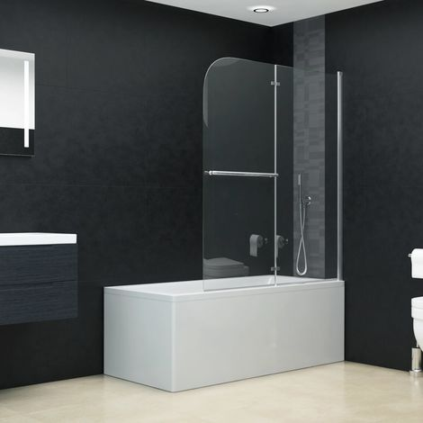 Folding Shower Enclosure 2 Panels ESG 95x140 cm