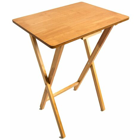 Folding Snack Table, Antique Pine